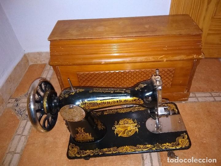 PRECIOSA MÁQUINA DE COSER (Antigüedades - Técnicas - Máquinas de Coser Antiguas - Singer)