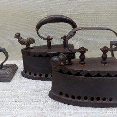 Antigüedades: BUEN LOTE DE PLANCHAS ANTIGUAS, ORIGINALES , NO REPLICAS, BUEN ESTADO. Lote 114765003