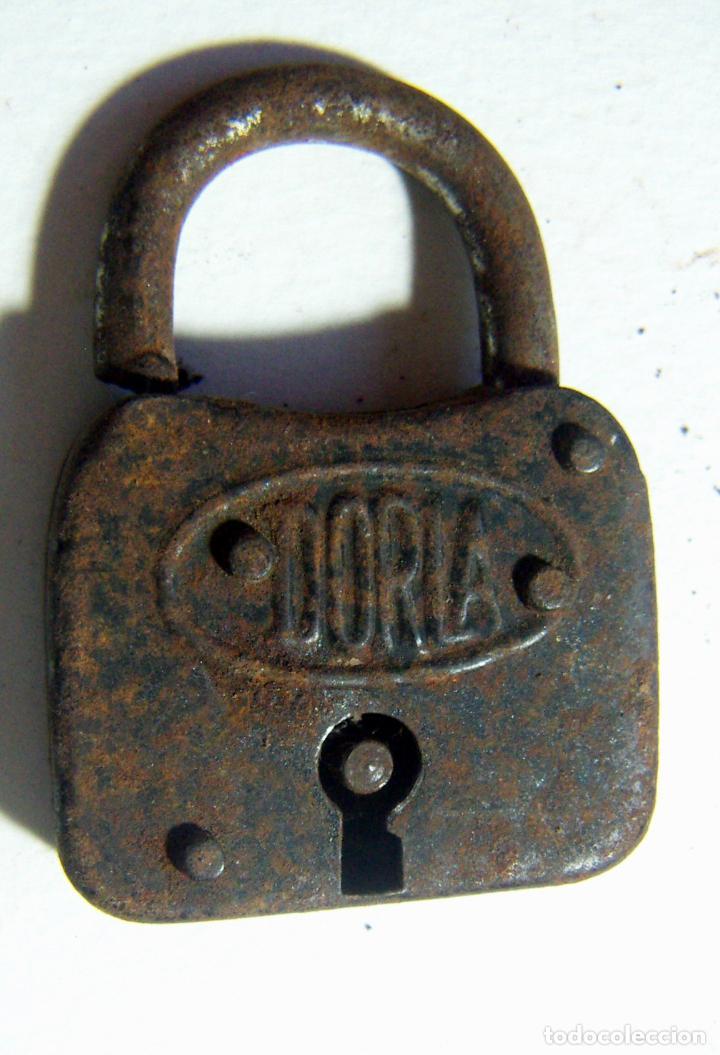 VIEJO CANDADO DORLA (Antigüedades - Técnicas - Cerrajería y Forja - Candados Antiguos)