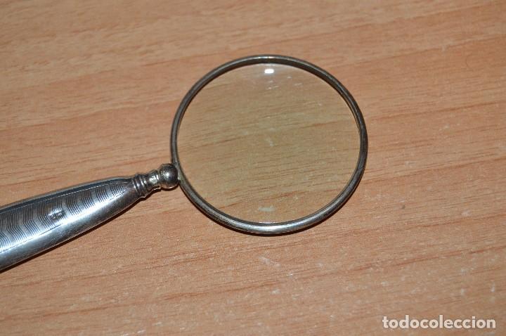 Antigüedades: VINTAGE - ANTIGUA LUPA DE PLATA - PRECIOSA - RARA - ART DECO - UNA CURIOSIDAD - HAZME UNA OFERTA -02 - Foto 3 - 114834675