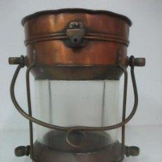 Antigüedades: FARO - FANAL - FAROL DE BARCO - COBRE - NAVEGACIÓN - N. DOXFORD & SONS, SUNDERLAND - S. XIX. Lote 114882515