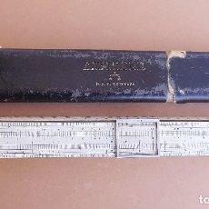 Antigüedades: REGLA DE CALCULO A.W.FABER DRP. Nº 206428 , INSTALACIONES ELECTRICAS. Lote 114895135