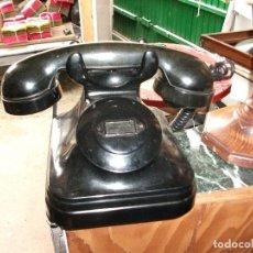 Teléfonos: TELÉFONO ANTIGUO NEGRO BAQUELITA TELEFÓNICA BUEN ESTADO. SOLO RECIBIR.. Lote 114941063