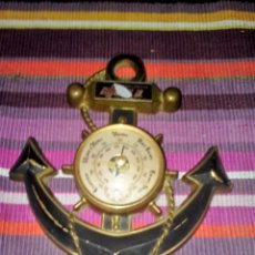Antigüedades: ANTIGUO BARÓMETRO ANCLA DECORATIVO 21X18,5 CMS 425 GRS. Lote 114967963