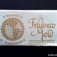 Antigüedades: HOJA DE AFEITAR ANTIGUA-FRAWEKO-GOLD-VINTAGE. Lote 114973759