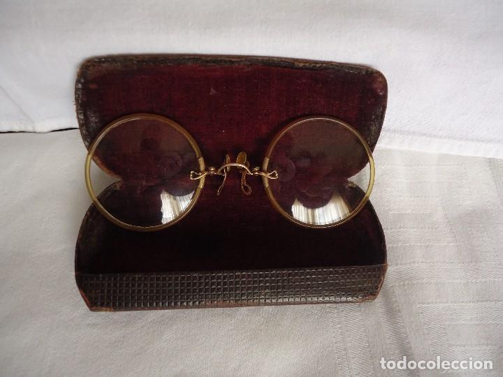 GAFAS QUEVEDO CON FUNDA (Antigüedades - Técnicas - Instrumentos Ópticos - Gafas Antiguas)