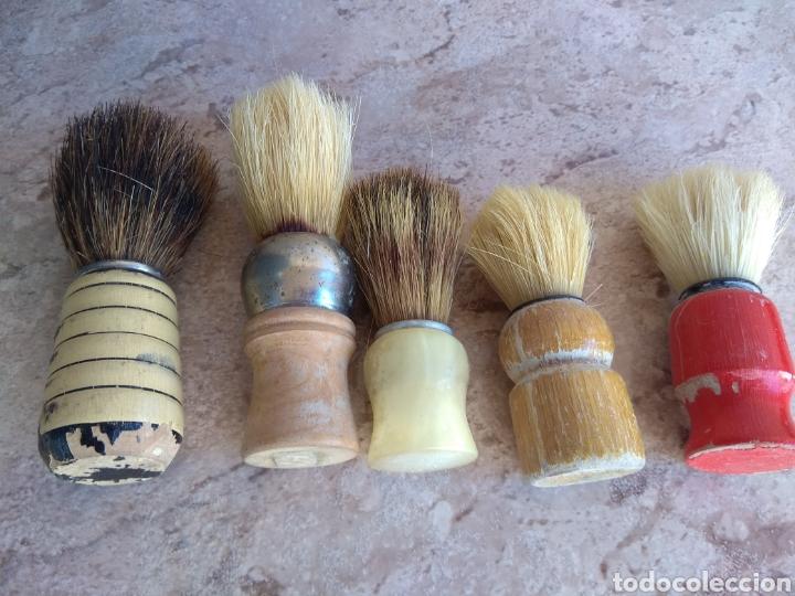 Antigüedades: Lote de Brochas de Barbero - Foto 2 - 115105010