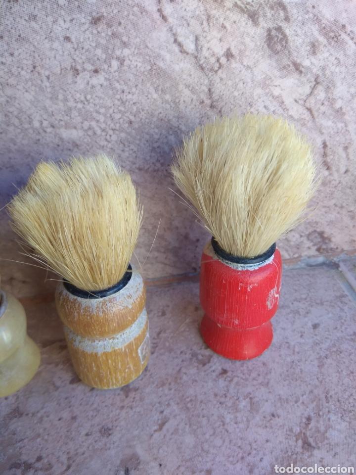 Antigüedades: Lote de Brochas de Barbero - Foto 3 - 115105010