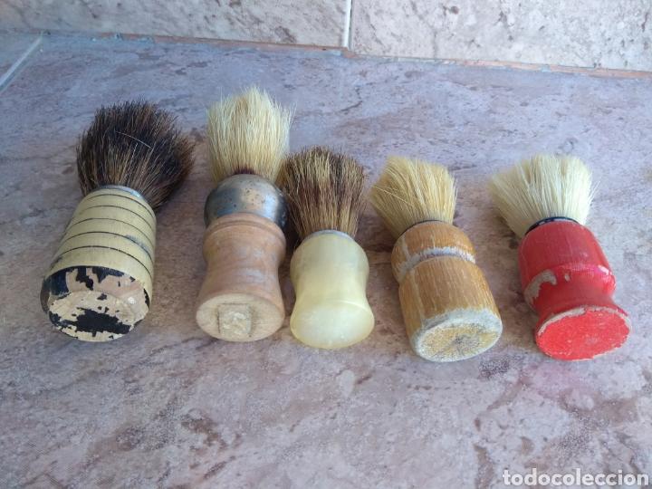Antigüedades: Lote de Brochas de Barbero - Foto 5 - 115105010