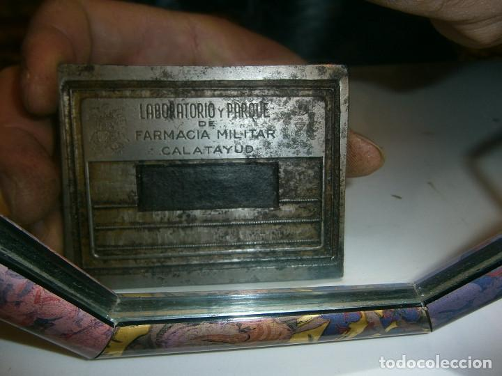 Antigüedades: precioso molde de imprenta años 30 40 metal laboratorio y parque de farmacia militar,, calatayud - Foto 3 - 115110639