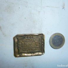 Antigüedades: PRECIOSO MOLDE DE IMPRENTA AÑOS 30 40 METAL DROGUERIA JIMERA,,,,VALENCIA,,,. Lote 115116191