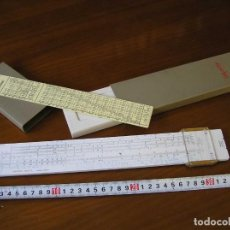 Antigüedades: REGLA DE CALCULO ARISTO TEXTIL 930 SYSTEM BECK CON SU CAJA - SLIDE RULE RECHENSCHIEBER. Lote 115169375