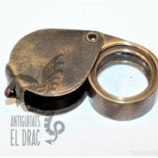 Antigüedades: ANTIGUA LUPA DE BOLSILLO PLEGABLE. Lote 162606818