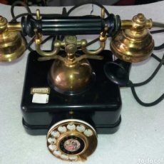 Teléfonos: TELEFONO ANTIQUISIMO MARCA ELASA.1920???CON LITOGRAFIA VELAZQUEZ.FUNCIONA!!!!!. Lote 115196240