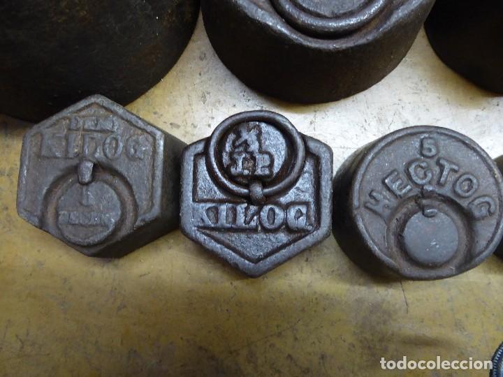 Antigüedades: 17 PESAS DE HIERRO EN BUEN ESTADO - Foto 4 - 115312699