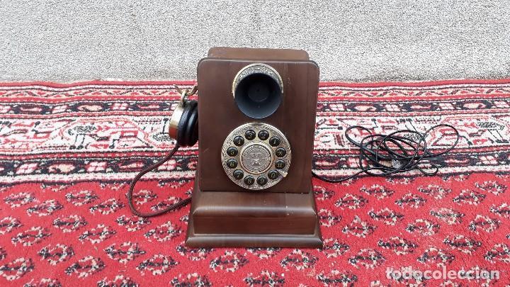TELÉFONO ANTIGUO RETRO VINTAGE, RÉPLICA TELÉFONO SIGLO XIX, NUEVO, FUNCIONA. (Antigüedades - Técnicas - Teléfonos Antiguos)