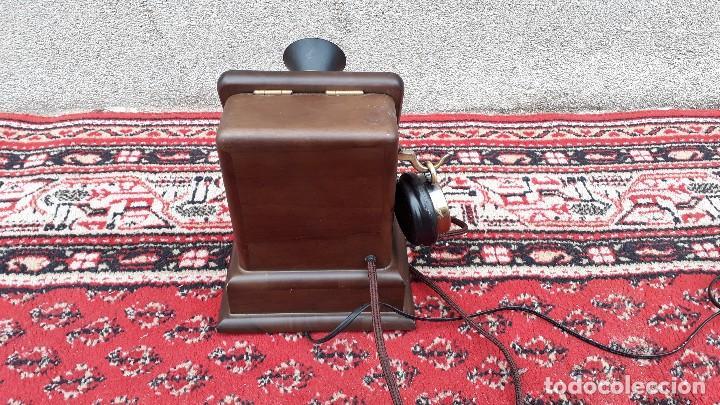 Teléfonos: Teléfono antiguo retro vintage, réplica teléfono siglo XIX, nuevo, funciona. - Foto 7 - 115344775