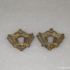 Antigüedades: PAREJA DE BOCALLAVES EN BRONCE MACIZO.. Lote 115355211