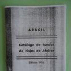 Antiguidades: CATALOGO DE FUNDAS DE HOJAS DE AFEITAR ARACIL . EDICION 1956. Lote 115404899