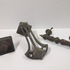 Antigüedades: ANTIGUO CONJUNTO DE LLAMADOR Y TIRADOR DE PUERTA . Lote 115490711