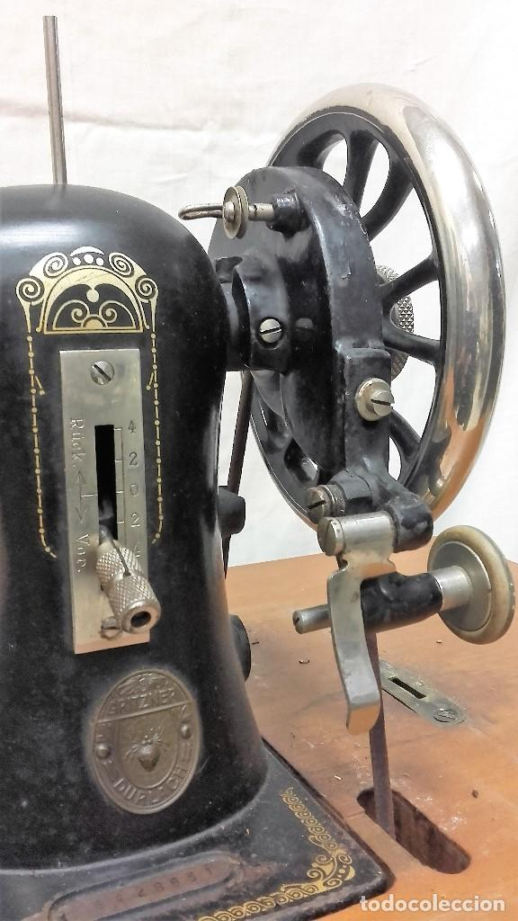 Antigüedades: Maquina de coser GRITZNER DURLACH (como nueva!!!) - Foto 3 - 115497107
