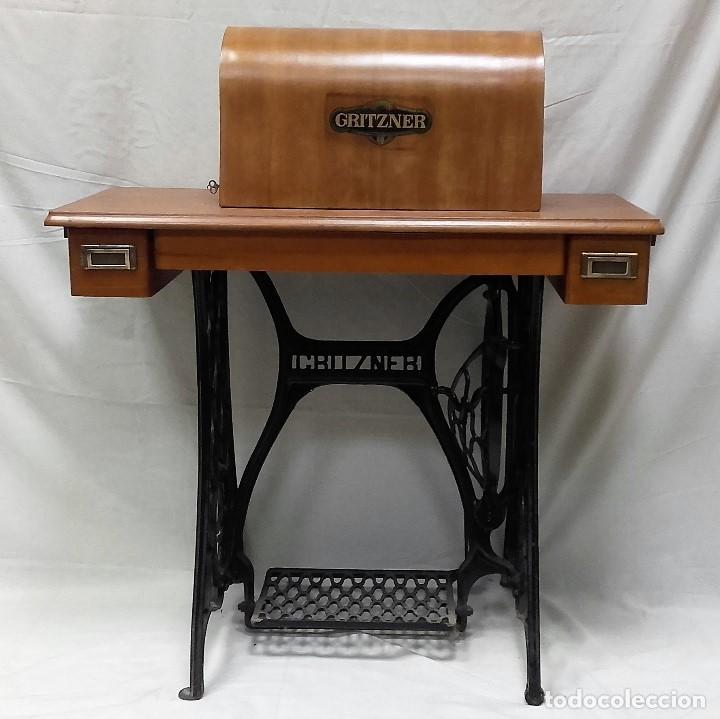 Antigüedades: Maquina de coser GRITZNER DURLACH (como nueva!!!) - Foto 5 - 115497107