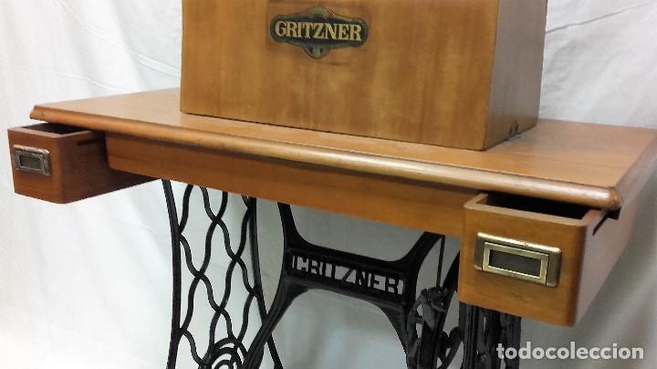 Antigüedades: Maquina de coser GRITZNER DURLACH (como nueva!!!) - Foto 7 - 115497107