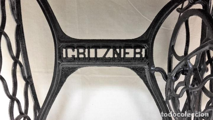 Antigüedades: Maquina de coser GRITZNER DURLACH (como nueva!!!) - Foto 8 - 115497107