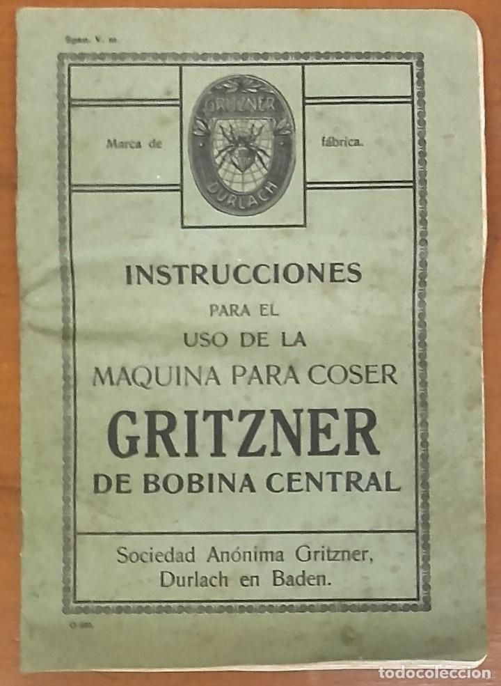 Antigüedades: Maquina de coser GRITZNER DURLACH (como nueva!!!) - Foto 14 - 115497107