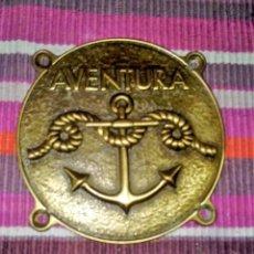 Antigüedades: ANCLA. INSIGNIA, METOPAS, NAUTICA PARA BARCO. GRUESO. 10 CMS. DE DIÁMETRO. Lote 115558119