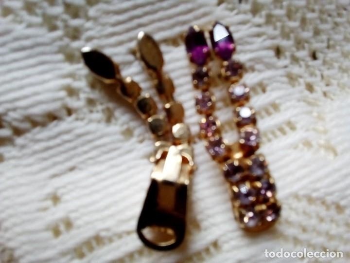 Antigüedades: Pendientes STRASS de clip - Foto 4 - 115513547