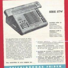 Antigüedades: CATALOGO DE CALCULADORAS AUTOMATICAS FRIDEN - 1958. Lote 115607023