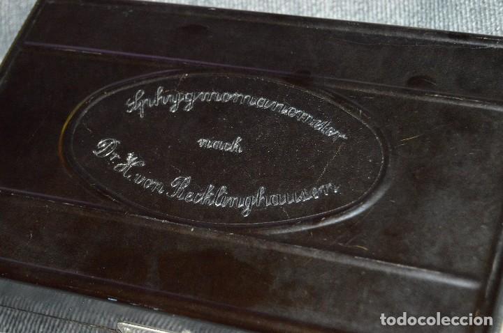 Antigüedades: PRECIOSO Y VINTAGE - TENSIÓMETRO EN ESTUCHE DE BAQUELITA - MUY BUEN ESTADO - DR H VON RECKLINGHAUSEN - Foto 19 - 115612999