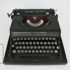 Antigüedades: ANTIGUA MÁQUINA DE ESCRIBIR - HISPANO OLIVETTI / STUDIO 46 -AÑOS 40-50 - CAJA ORIGINAL. Lote 125980227
