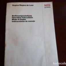 Antigüedades: LIBRO DE INSTRUCCIONES DE MAQUINA DE ESCRIBIR OLYMPIA, REGINA DE LUXE. Lote 115829779