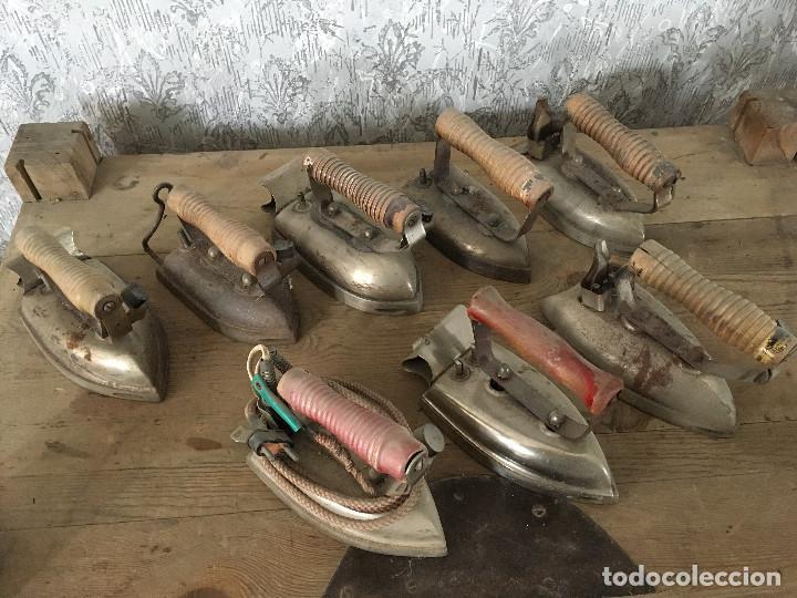 Antigüedades: PLANCHAS ELÉCTRICAS LOTE DE 8 - Foto 2 - 116138287