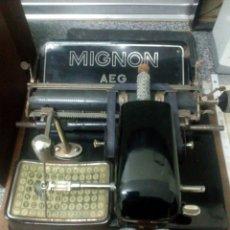 Antigüedades: MAQUINA DE ESCRIBIR MIGNON 4 DE 1925. Lote 116155427