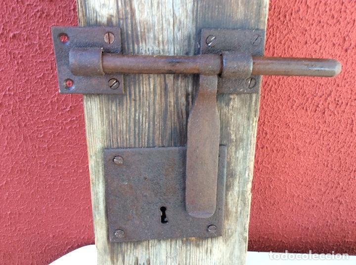 CERRADURA CON CERROJO (Antigüedades - Técnicas - Cerrajería y Forja - Cerraduras Antiguas)
