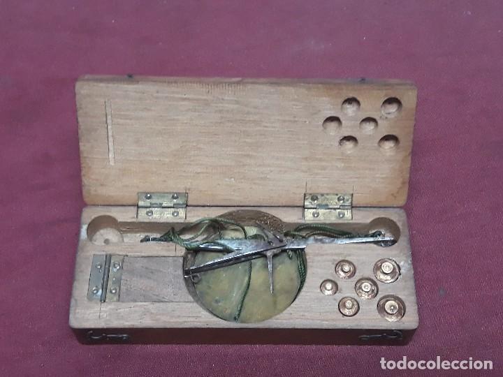 BALANZA...PESO... EN SU CAJA. XIX (Antigüedades - Técnicas - Medidas de Peso - Balanzas Antiguas)