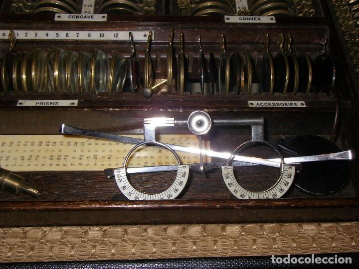 Antigüedades: Maletín con instrumentos de graduación y juegos de lentes de Óptica, siglo XIX - Foto 3 - 116391267