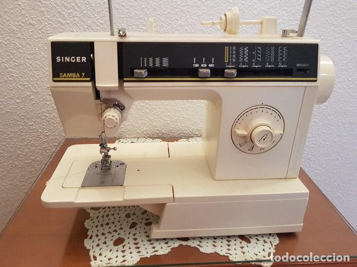 maquina de coser singer samba 7 con mueble incl - Comprar