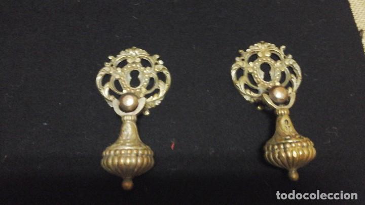 Antigüedades: Conjunto completo de tiradores en bronce .Grandes . Circa 1910-1920 - Foto 3 - 116493115