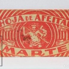 Antigüedades: ANTIGUA HOJA / CUCHILLA DE AFEITAR - HOJA DE AFEITAR MARTE - J. VACARISAS. Lote 116505023