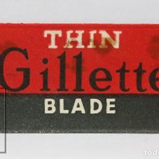 Antigüedades: ANTIGUA HOJA / CUCHILLA DE AFEITAR - GILLETTE. THIN BLADE - MADE IN LONDON. Lote 116505339