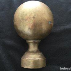 Antigüedades: ANTIGUA BOLA DE ESCALERA DE BRONCE MACIZO.. Lote 244530210