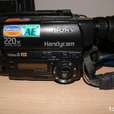 Antigüedades: VIDEOCÁMARA SONY HANDYCAM 220X DIGITAL ZOOM CON NIGHTSHOT - FUNCIONANDO . Lote 116590715