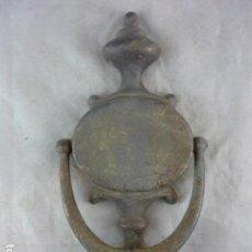 Antigüedades: LLAMADOR PUERTA - ALDABA - 21X10CM. Lote 140916196