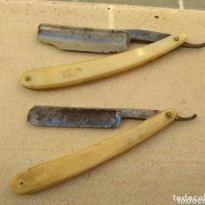 Antigüedades: PAREJA NAVAJAS BARBERO - AFEITAR. Lote 116653243