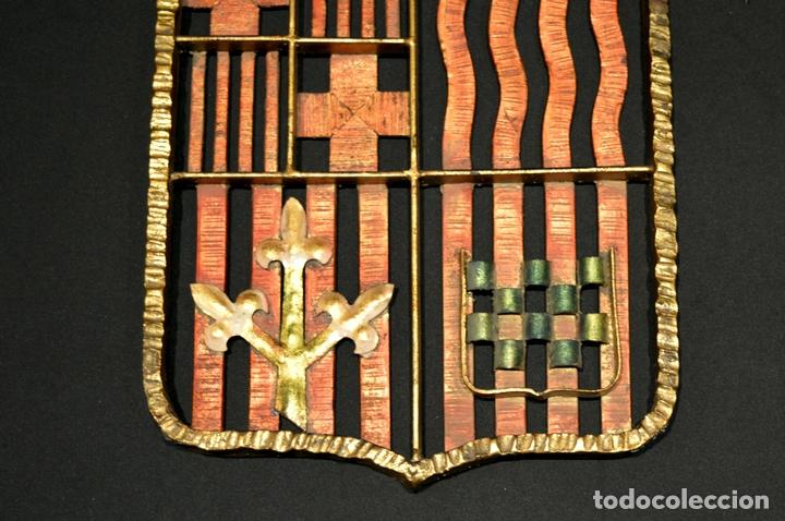 Antigüedades: GRAN ESCUDO CATALUNYA EN FORJA DE HIERRO BARCELONA TARRAGONA LLEIDA GIRONA - Foto 3 - 53714874