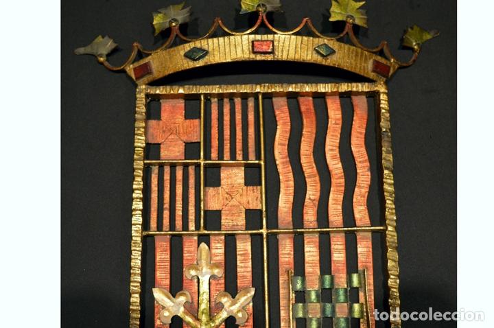 Antigüedades: GRAN ESCUDO CATALUNYA EN FORJA DE HIERRO BARCELONA TARRAGONA LLEIDA GIRONA - Foto 4 - 53714874